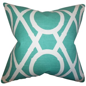 Whit Blue 18 x 18 Geometric Throw Pillow