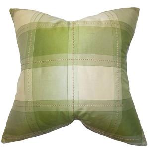 Elske Green 18 x 18 Plaid Throw Pillow