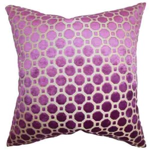 Kostya Purple 18 x 18 Geometric Throw Pillow