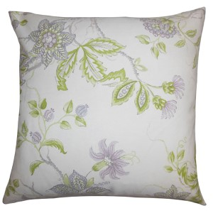 Ululani Purple 18 x 18 Floral Throw Pillow