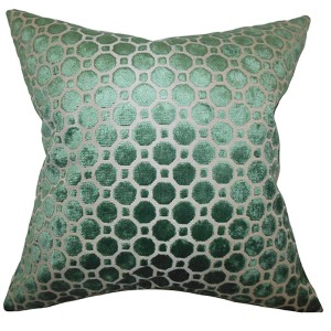 Kostya Green 18 x 18 Geometric Throw Pillow