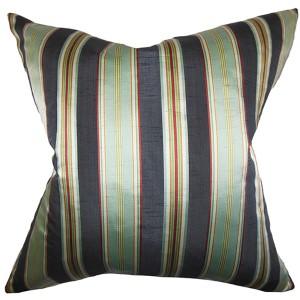 Ofira Multicolor 18 x 18 Stripes Throw Pillow