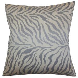Helaine Gray 18 x 18 Zebra Print Throw Pillow