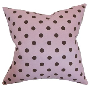 Nancy Pink 18 x 18 Patterned Throw Pillow