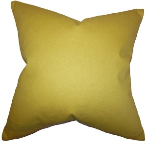 Kalindi Yellow 18 x 18 Solid Throw Pillow