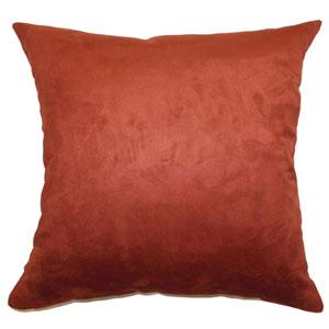 Fabrizia Plain Pillow Rust