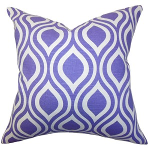 Poplar Purple 18 x 18 Geometric Throw Pillow