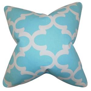 Titian Sky Blue 18 x 18 Geometric Throw Pillow