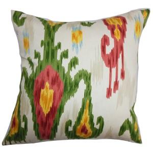 Talisha Green 18 x 18 Patterned Throw Pillow