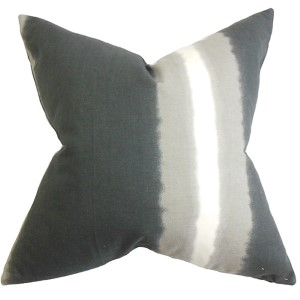 Djuna Gray 18 x 18 Stripes Throw Pillow