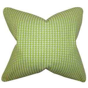 Lviv Green 18 x 18 Plaid Throw Pillow