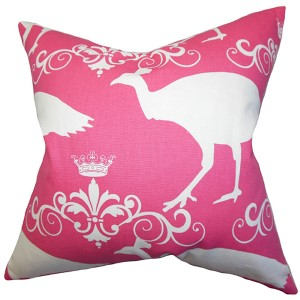 Animal Pink 18 x 18 Animal Print Throw Pillow
