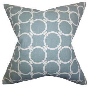 Betchet Saffron Gray 18 x 18 Geometric Throw Pillow