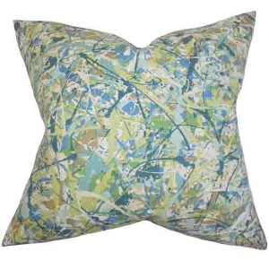 Geneen Green 18 x 18 Geometric Throw Pillow