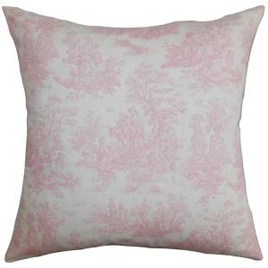Lalibela Pink 18 x 18 Toile Throw Pillow
