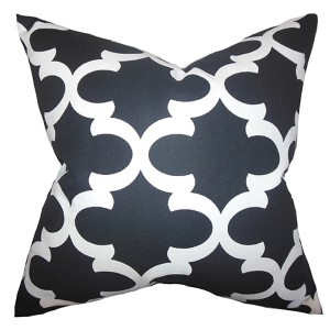 Titian Black and White 18 x 18 Geometric Throw Pillow