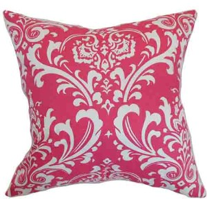 Malaga Pink 18 x 18 Patterned Throw Pillow