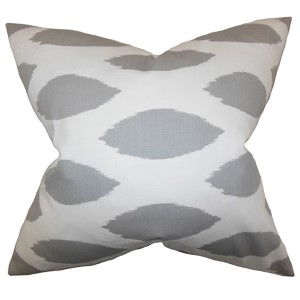 Juliaca White 18 x 18 Patterned Throw Pillow