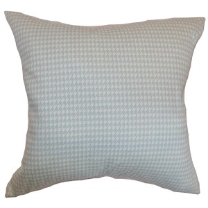 Lviv Powder Blue 18 x 18 Plaid Throw Pillow