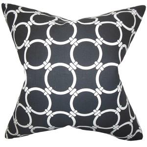 Bechet Black 18 x 18 Geometric Throw Pillow
