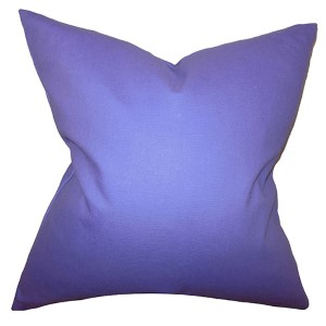 Kalindi Thistle 18 x 18 Solid Throw Pillow