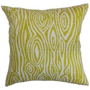 Thirza Green 18 x 18 Geometric Throw Pillow