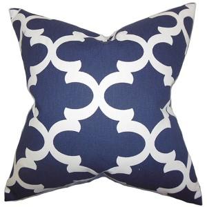 Titian Blue 18 x 18 Geometric Throw Pillow