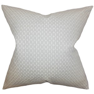 Orit Neutral 18 x 18 Geometric Throw Pillow