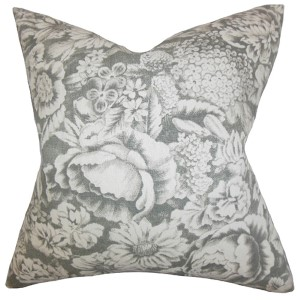 Elspeth Gray 18 x 18 Floral Throw Pillow