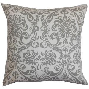 Saskia Gray 18 x 18 Patterned Throw Pillow