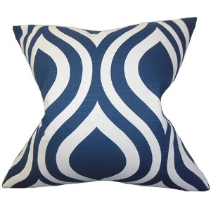 Larch Blue 18 x 18 Geometric Throw Pillow