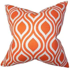 Larch Orange 18 x 18 Geometric Throw Pillow