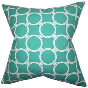 Betchet Green 18 x 18 Geometric Throw Pillow