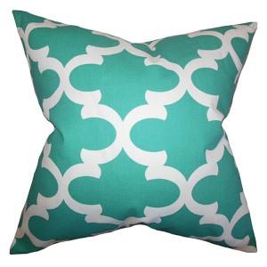 Titian Jade 18 x 18 Geometric Throw Pillow
