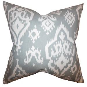 Baraka Gray 18 x 18 Ikat Throw Pillow