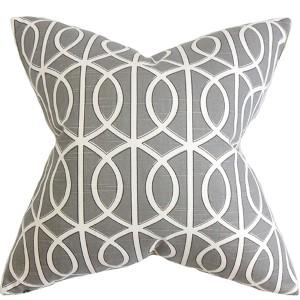 Lior Gray 18 x 18 Geometric Throw Pillow