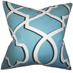 Curan Light Blue 18 x 18 Geometric Throw Pillow