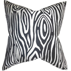 Thirza Black 18 x 18 Geometric Throw Pillow