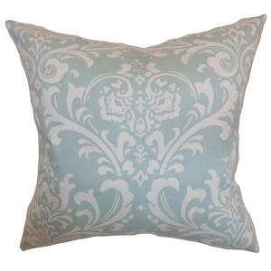 Malaga Powder Blue 18 x 18 Patterned Throw Pillow