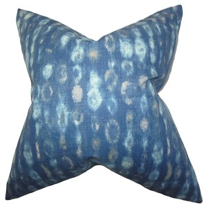 Verve Blue 18 x 18 Geometric Throw Pillow