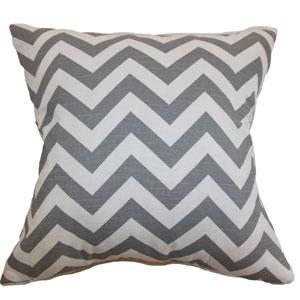 Xayabury Zigzag Pillow Ash White Slub