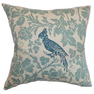 Gayndah Floral Pillow Blue Natural