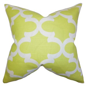 Titian Green 18 x 18 Geometric Throw Pillow