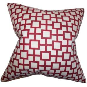 Janka White 18 x 18 Geometric Throw Pillow