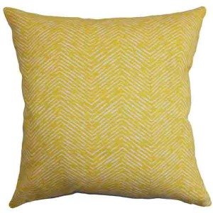 Edythe Yellow 18 x 18 Zigzag Throw Pillow