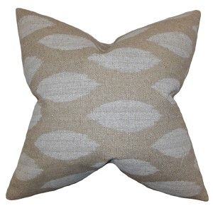 Juliaca Neutral 18 x 18 Patterned Throw Pillow