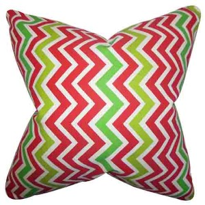 Howel Pink 18 x 18 Zigzag Throw Pillow