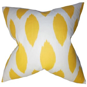 Juliaca Yellow 18 x 18 Patterned Throw Pillow