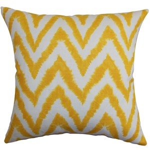 Kingspear Yellow 18 x 18 Zigzag Throw Pillow
