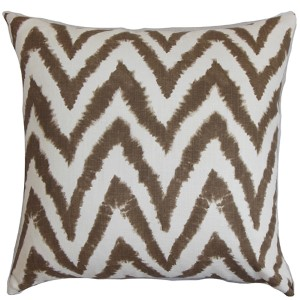 Kingspear Brown 18 x 18 Zigzag Throw Pillow